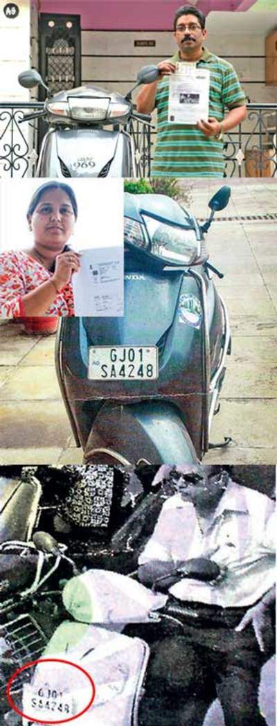 Car driver gets e-challan for driving without helmet