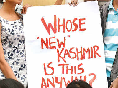 What do you feel about the government doing away with Article 370 in Kashmir?