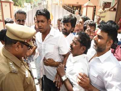 Vishal Krishna detained as revolt in producers council spills to the streets