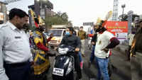 'Yamraj' and 'Chitragupt' come down for traffic awareness drive in Bhopal