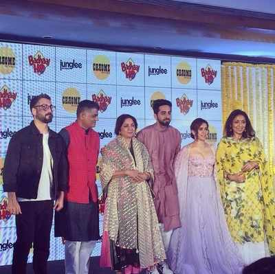 Photos: Badhaai Ho actor Ayushmann Khurrana hosts baby shower for his on-screen mother Neena Gupta and 50 other pregnant women