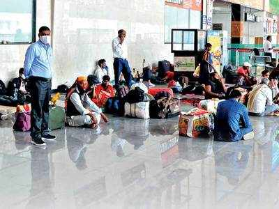 Curfew forces them to walk for kms, arrive 24 hrs early to catch train