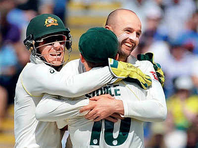 Nathan Lyon hands Australia 1-0 lead over England in the Ashes