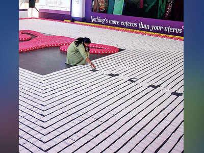 India sets a sanitary napkin record