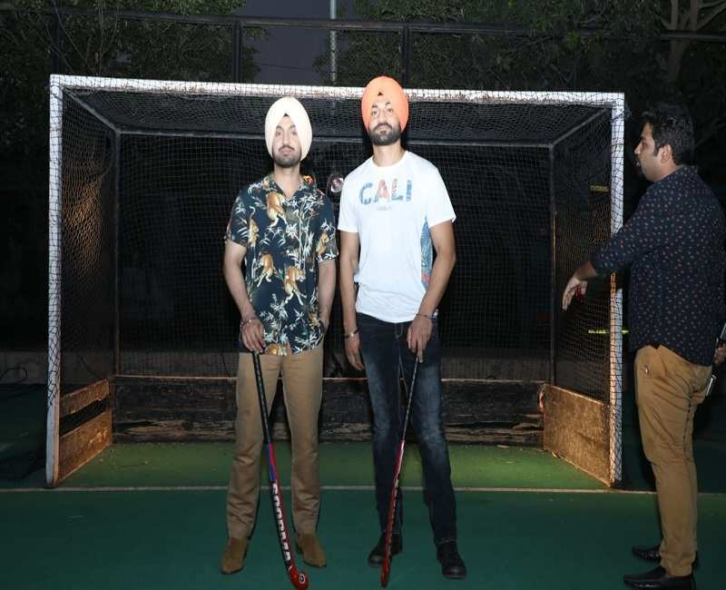 Diljit also visited Sandeep's hockey turf