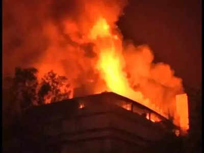 Five rescued from fire at hotel
