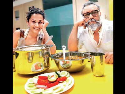 Taapsee Pannu and Anubhav Sinha mark new beginnings with a sumptuous meal