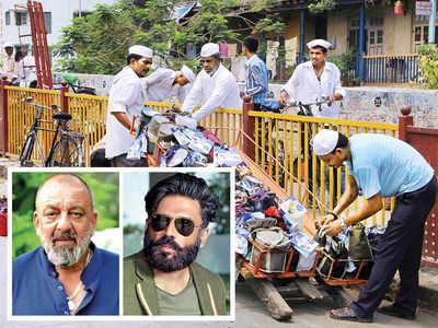 Sanjay Dutt, Suniel Shetty join hands with Aslam Shaikh to help dabbawalas