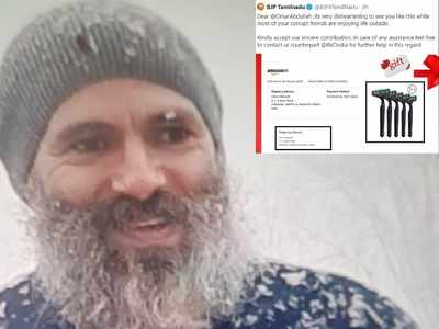 BJP ready to 'gift razor' to Omar Abdullah after his bearded photo goes viral; deletes tweet after backlash