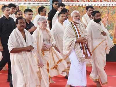 PM Narendra Modi offers prayers at Guruvayur Lord Krishna temple