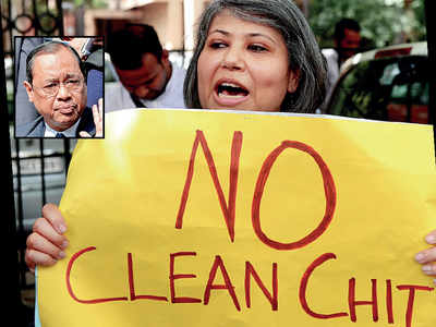55 held in 'no-clean chit' protest