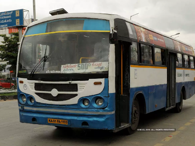 Biker run over by BMTC bus, dies