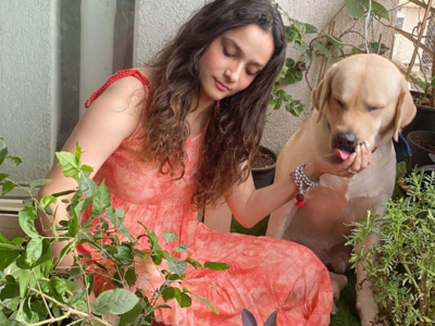 Ankita Lokhande plants trees in memory of Sushant Singh Rajput