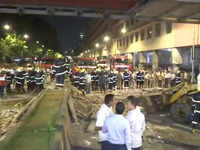 Mumbai: Several feared dead as foot overbridge collapses near CST railway station