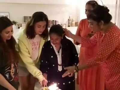 Watch: Alia Bhatt, sister Shaheen Bhatt celebrate their househelp's birthday