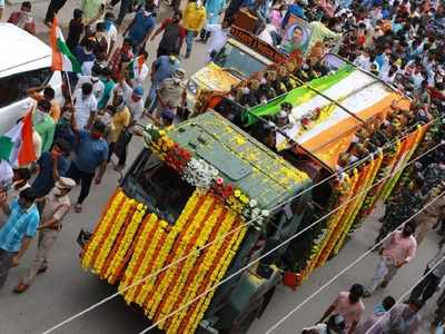 Suryapet in tears as Colonel Santosh Babu given emotional farewell