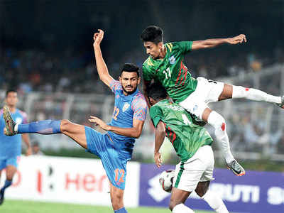Asian WC Qualifiers: India snatches a 1-1 draw against Bangladesh after scoring a goal in 88th minute