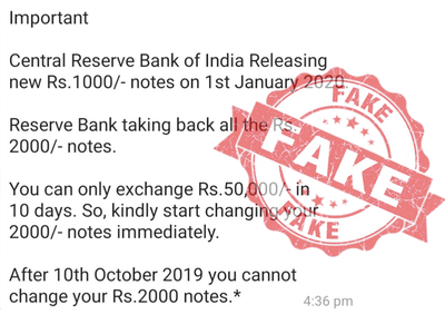 Fake News Alert: No, Rs 2000 currency notes are not being discontinued
