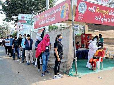 Tests drop, but cases peak in Gujarat