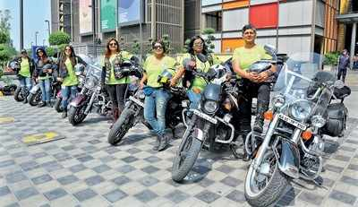 Seven women rode their motorcycles across the country to encourage women to come out and claim their place in society