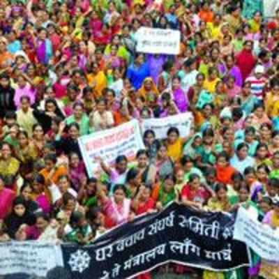 15,000 slum dwellers join protest rally against demolition of illegal structures