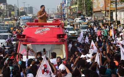 Tamil Nadu election 2021 live news: MNM President Kamal Haasan campaigns in Chennai