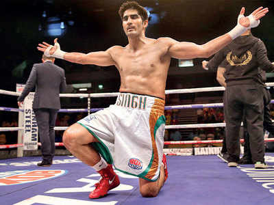 Vijender Singh challenged by 'kids' Neeraj Goyat and Vikas Krishnan