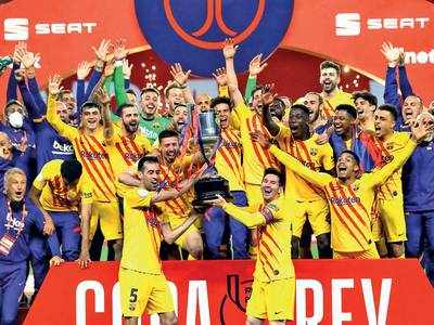 Messi nets a brace as Barcelona beats Bilbao to win Copa del Rey