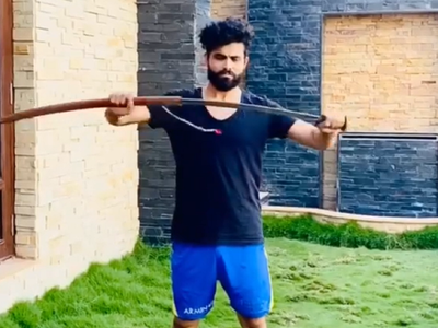 Watch: Ravindra Jadeja polishes his sword swinging skills amid lockdown; David Warner, Michael Vaughan react