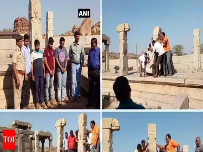 Karnataka court orders Hampi temple vandalisers to restore pillars