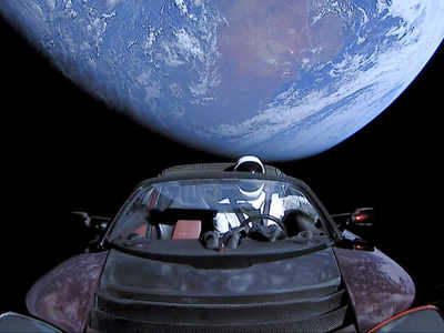 Elon Musk's Tesla Roadster, tied to Falcon Heavy, spotted floating in space