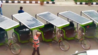 CEL hands-over 10 solar-powered rickshaws in IIT-Delhi