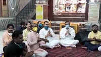Ram temple event: Devotees perform Hanuman Chalisa, light lamps on eve of Foundation laying ceremony