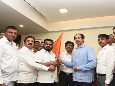 NCP MLAs Dhanraj Mahale, Dilip Raut join Shiv Sena