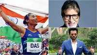 From Amitabh Bachchan to Anil Kapoor, Bollywood congratulates 'supergirl' Hima Das