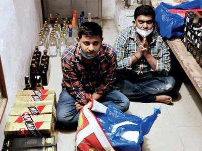 Bootleggers mix sasta maal with premium booze to make quick bucks