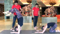 Watch Shilpa Shetty Kundra performing advance yogasana, but please don't try this at home without a trainer!