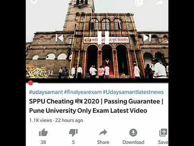 SPPU exam hacks go on YouTube
