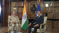 PM Modi holds bilateral meeting with French President Emmanuel Macron