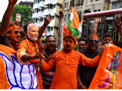 BJP celebrates as trends favour party in West Bengal