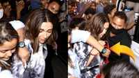 Deepika Padukone mobbed, woman tries to snatch her bag