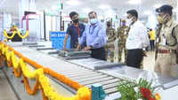 Goa CM Sawant inaugurates Automatic Tray Retrieval Systems at Goa Airport