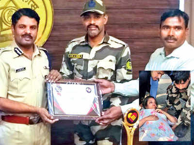 Guard who ran 2 km to assist Shabana Azmi after crash, felicitated