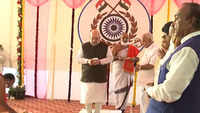 Amit Shah lays foundation stone of Rapid Action Force Centre in Shivamogga
