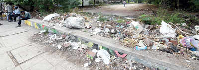 Civic body's neglect turns amenity space into a garbage dump