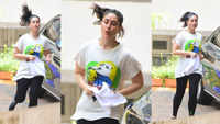 Kareena jogs in her building compound