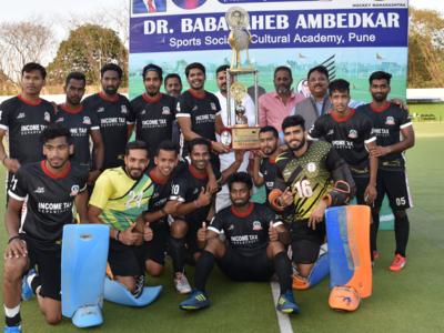 Income Tax lift Dr Babasaheb Ambedkar Hockey Tournament title