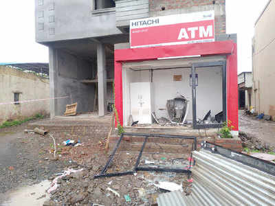 Two thieves have a blast at Chakan ATM