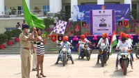 Women bikers organise bike rally to felicitate COVID warriors