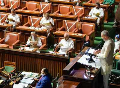 Bangalore news live: Congress stalls Karnataka assembly over 'One Nation, One Election'